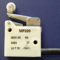Mikrospínač: MP320-5MALA/375/25PTFE-Microprecision: Mikrospínač MP320 170°C LEVER 5MALA CABLE PTFE 0,25m