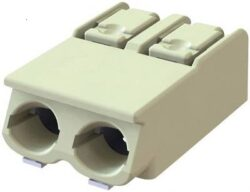 Spring Terminal: MWX901-40002E-S-DECA: SMD Terminal Block MWX901-40002E-S 2Poles, Pitch 4,00mm, Wire Size 18-24AWG, 9A/250VDC