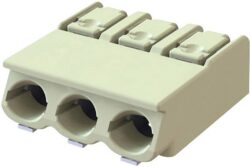 Spring Terminal: MWX901-40003E-S-DECA: SMD Terminal Block MWX901-40003E-S 3Poles, Pitch 4,00mm, Wire Size 18-24AWG, 9A/250VDC