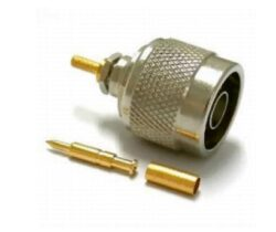 Vysokofrekvenční konektor: N-1105-TGN-Schmid-M: Vysokofrekvenční konektor N male/plug krimpovací na kabel RG 223,58, 141, přímý ~ Huber Suhner 11 N-50-3-28/133NE 22642842 ~ Amphenol 122108RP