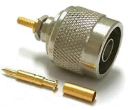 Vysokofrekvenční konektor: N-1106-TGN-Schmid-M: Vysokofrekvenční konektor N male/plug krimpovací na kabel RG 174U, 316U; Huber+Suhner 11 N-50-2-11/133NH 22658813