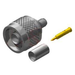 Vysokofrekvenční konektor: N-1118-TGN-Schmid-M: Vysokofrekvenční konektor N male/plug krimpovací na kabel LMR 240, přímý