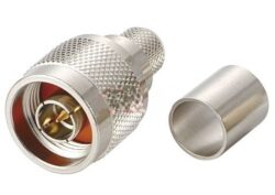 Vysokofrekvenční konektor: N-1129-TGN-Schmid-M: Vysokofrekvenční konektor N male/plug krimpovací na kabel LMR 200 ~ Amphenol 172214