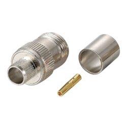 Vysokofrekvenční konektor: N-1207-TGN-Schmid-M: N-1207-TGN Vysokofrekvenční konektor N female/jack krimpovací na kabel RG/213; ~ Huber+Suhner 21_N-50-7-13/133NE  22542257 ~  TE 1-1337414-0 ~ Telegartner J01021A0061 ~ Rosenberger 53K101-115N5