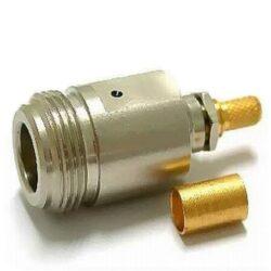 Vysokofrekvenční konektor: N-1211-TGN-Schmid-M: N-1211-TGN Vysokofrekvenční konektor N female/jack krimpovací na kabel; Huber+Suhner 21 N-50-3-7/133NE 22542229 ~ Amphenol RF 172103 ~ Johnson 138-4307-407