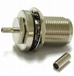 Vysokofrekvenční konektor: N-1218A-TGN-Schmid-M: Vysokofrekvenční konektor N male/plug bulkhead pro kabel RG 58