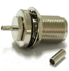 Vysokofrekvenční konektor: N-1235-TGN-Schmid-M: N-1235-TGN Vysokofrekvenční konektor N  female/jack krimpovací na kabel LMR 400 ~ Amphenol 172142