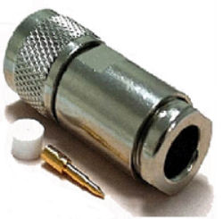 Vysokofrekvenční konektor: N-2105-TGN-Schmid-M: Vysokofrekvenční konektor N male/plug šroubovací na kabel RG 58, 58A, 141A (UG No. 536B/U) ~ Huber Suhner 11_N-50-3-51/133NE 22543919 ~Rosenberger 53S114-006N5 ~ Amphenol 34025-RX2