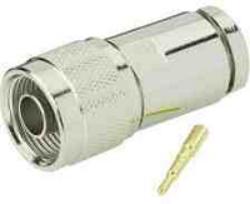 Vysokofrekvenční konektor: N-2143-TGN-Schmid-M: Vysokofrekvenční konektor N male/plug šroubovací na kabel 3/8,  středový vodič bez pájky