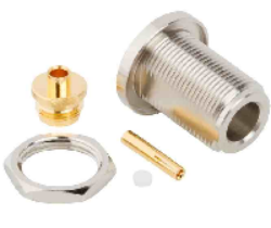 Vysokofrekvenční konektor: N-2218-TGN-Schmid-M: Vysokofrekvenční konektor N female/jack šroubovací na kabel RG 174u, 188u, 316u; Huber+Suhner 24 N-50-2-1/133NE 22641239