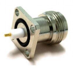 Vysokofrekvenční konektor: N-3201-TGN-Schmid-M: N-3201-TGN Vysokofrekvenční konektor N female/jack panelový, A: 6,5; B: 28  ~ Rosenberger 53K403-200N3 ~ Amphenol 82-6095-RFX ~ Telegartner J01021H1082 ~ TE 1-1337418-0