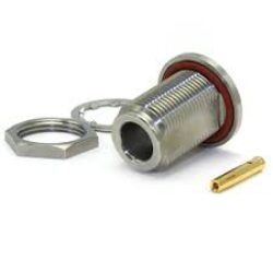 Vysokofrekvenční konektor: N-4208b-TGN-Schmid-M: Vysokofrekvenční konektor N male/plug bulkhead