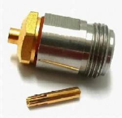 Vysokofrekvenční konektor: N-7204-TGN-Schmid-M: Vysokofrekvenční konektor N female/jack na Semi-rigid kabel RG 405/U (0.085); Huber+Suhner  21 N-50-2-14/133NE 22642666