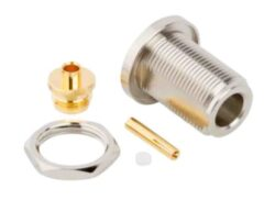 Vysokofrekvenční konektor: N-7207-TGN-Schmid-M: N-7207-TGN Vysokofrekvenční konektor N female/jack na Semi-rigid kabel RG/402, přímý ~ Huber Suhner 24_N-50-2-14/133NE 22544637 ~ Rosenberger 53K517-271N5