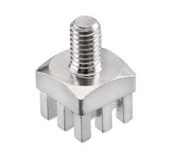 Press-Fit napájecí element: Patron: PFPE 0502 - Patron: PFPE 0502  Press-Fit napájecí element Hight Current  Connection M4 /6,0mm H:12,5mm  7*7mm Brass= WE 746 109 6 ~ WE 7461096