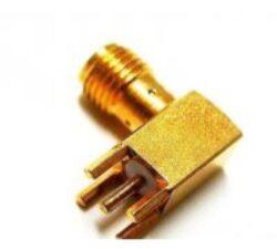 Vysokofrekvenční konektor: RP-SMA-5201-TGG-Schmid-M: Vysokofrekvenční konektor SMA reverzní  female/jack PCB