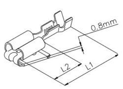 Faston: RSB 7984 X 4,8-1,5 S-M Messing verzinnt B-STOCKO: Faston: RSB 7984 X 4,8-1,5 S-M Messing verzinnt B
