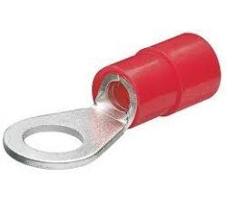 Kabelové oko: RSY 7104 A5-1-STOCKO:  RSY 7104 A5-1 kabelové oko izolované, 0,5-1,5mm2 M5 červené