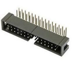 SM C02 3510 40 R - Header Box 90° 2x20pin RM2,54x2,54mm, THT = MLW40A