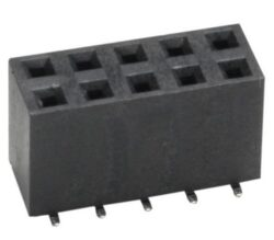 SM C02 2818 08 YL - Female Header SMT RM2,54mm Dual Rows H=3.56mm 2x4Pin
