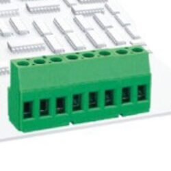 Terminal Block: SM C09 15817 03 SS4 - Schmid-M: Screw Clamp Terminal Block SM C09 15817 03 SS4 RM 5,00mm 3 Poles , green, Hor. Conductor 20A/250VDC, H=18,00mm, B=10,50mm