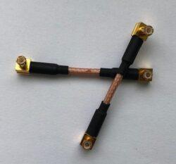 VF kabel s konektorem: SM-0007-316-0050-Schmid-M: VF kabel s konektorem SM-0007-316-0050, Sestava kabelu 2x MCX-1106-TGG + RG316-50mm