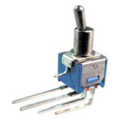 Přepínač: SM-SMTS-202-2C4-Schmid-M: Přepínač  ON-OFF-ON  2x 3A/ 125V 90° s uzemněním