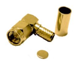 Vysokofrekvenční konektor: SMA-1101-TGG-Schmid-M: SMA-1101-TGG Vysokofrekvenční konektor SMA male/plug krimpovací na kabel 58A, 141A; HUBER SUHNER 16_SMA-50-3-105/111_NH 22651800 ~ Rosenberger 32S207-306L5