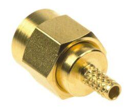Vysokofrekvenční konektor:  SMA-1104-TGN-Schmid-M: Vysokofrekvenční konektor SMA male/plug krimpovací na kabel 58, 58A, 141A = Huber Suhner 11_SMA-50-3-5/111_NE 22640048, 22650739 = Rosenberger 32S107-306L5