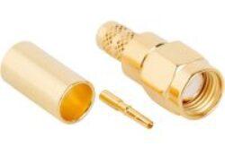 Vysokofrekvenční konektor: SMA-1128-TGN-Schmid-M: Vysokofrekvenční konektor SMA male/plug krimpovací na kabel LMR240