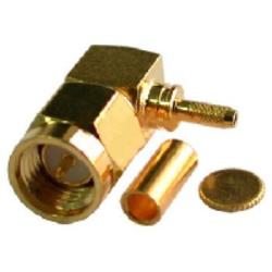 Vysokofrekvenční konektor: SMA-1147-TGG-Schmid-M: Vysokofrekvenční konektor SMA male/plug krimpovací na kabel RG174u, 196u = Huber Suhner 16_SMA-50-1-1/111_NH , Radiall R125 170 402