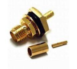 Vysokofrekvenční konektor: SMA-1210-TGG-Schmid-M: Vysokofrekvenční konektor SMA female/jack bulkhead na kabel 58, 58A, 141A