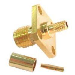 Vysokofrekvenční konektor: SMA-1236-TGG-Schmid-M: Vysokofrekvenční konektor SMA female/jack panelový RG 223U, 142, 400