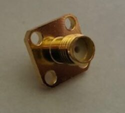 RF Connector SMA: SMA-1237m-TGG-Schmid-M: RF Connector SMA-1237m-TGG, SMA Square Flange Jack/Female Crimp RG316