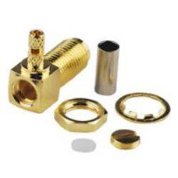 Vysokofrekvenční konektor: SMA-1248-TGG-Schmid-M: Vysokofrekvenční konektor SMA female/jack bulkhead  RG 174U, 188A/U, 316U = Amphenol 901-10608