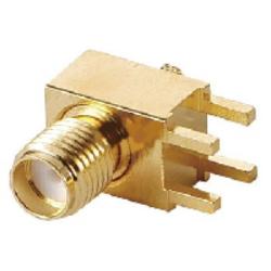 Vysokofrekvenční konektor: SMA-1249-TGG-Schmid-M: Vysokofrekvenční konektor SMA female/jack do DPS RG 174U, 188A/U, 316U