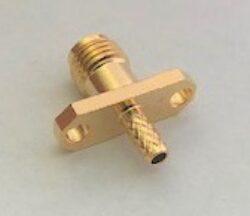 RF konektor: SMA-1257m-TGG-Schmid-M: RF konektor: SMA-1257m-TGG Zásuvka/ Jack SMA se 2 otvory přírubou kabel RG316