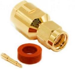 Vysokofrekvenční konektor: SMA-2102-TGN-Schmid-M: Vysokofrekvenční konektor SMA male/plug šroubovací na kabel RG 174, 188A, 316