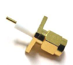 Vysokofrekvenční konektor: SMA-3105-TGG-Schmid-M: Vysokofrekvenční konektor SMA male/plug panelový, Teflon = Rosenberger 32S422-500S5