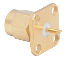 Vysokofrekvenční konektor: SMA-3112m-TGG-Schmid-M: SMA-3112m-TGG Vysokofrekvenční konektor SMA male/plug panelový