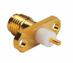 Vysokofrekvenční konektor: SMA-3218-TGG-Schmid-M: Vysokofrekvenční konektor SMA female/jack panelový (kontakt vertikálně k panelu)