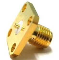 Vysokofrekvenční konektor: SMA-3221-TGG-Schmid-M: Vysokofrekvenční konektor SMA female/jack panelový (štěrbinový kontakt)