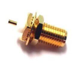 Vysokofrekvenční konektor: SMA-4202-TGG-Schmid-M: Vysokofrekvenční konektor SMA female/jack bulkhead = Amphenol 901-9889-RFX