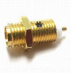 Vysokofrekvenční konektor: SMA-4203-TGG-Schmid-M: Vysokofrekvenční konektor SMA female/jack bulkhead, koaxiální konec
