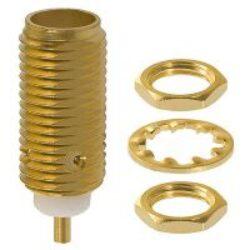 Vysokofrekvenční konektor: SMA-4207-TGN-Schmid-M: Vysokofrekvenční konektor SMA female/jack bulkhead