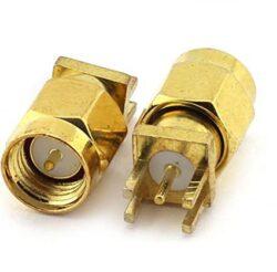 Vysokofrekvenční konektor: SMA-5113m-TGG-Vysokofrekvenční konektor SMA-5113m-TGG male/plug do DPS, přímý