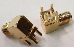 Vysokofrekvenční konektor: SMA-52022j-TGG-Schmid-M: Vysokofrekvenční konektor SMA female/jack do DPS = Rosenberger 32K201-400L5 ~ Huber Suhner 85_SMA-50-0-144/111_YH 23000527