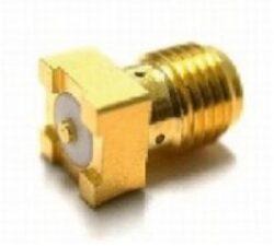 Vysokofrekvenční konektor: SMA-5203-TGG-Schmid-M: SMA-5203-TGG Vysokofrekvenční konektor SMA female/jack do DPS ~ Amphenol 132134-10 ~ Johnson 142-0711-202 ~ Molex 73251-1352
