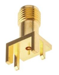 Vysokofrekvenční konektor: SMA-5212-TGG-Schmid-M: Vysokofrekvenční konektor SMA female/jack do DPS = Rosenberger 32K145-400L5 , Radiall R125 423 200