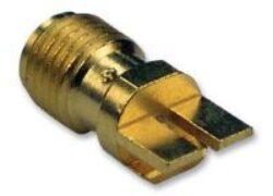 Vysokofrekvenční konektor: SMA-5214-TGG-Schmid-M: SMA-5214-TGG Vysokofrekvenční konektor SMA female/jack do DPS End Launch ~ Amphenol 901-10511-1~ Amphenol 901-10513-1